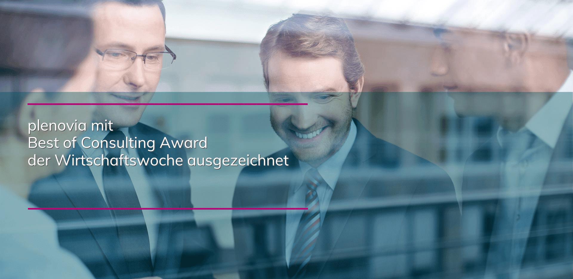 plenovia wieder mit Best of Consulting Award der WiWo für Projekt Pfeiffer Reisen ausgezeichnet