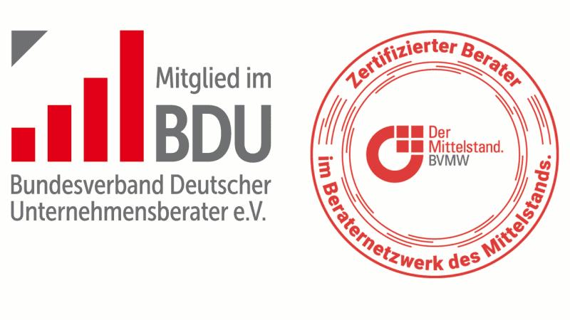 Mitglied im BDU & zertifizierter Berater im Beraternetzwerk des Mittelstands
